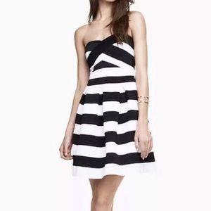 Express  Black and White Bondage Dress